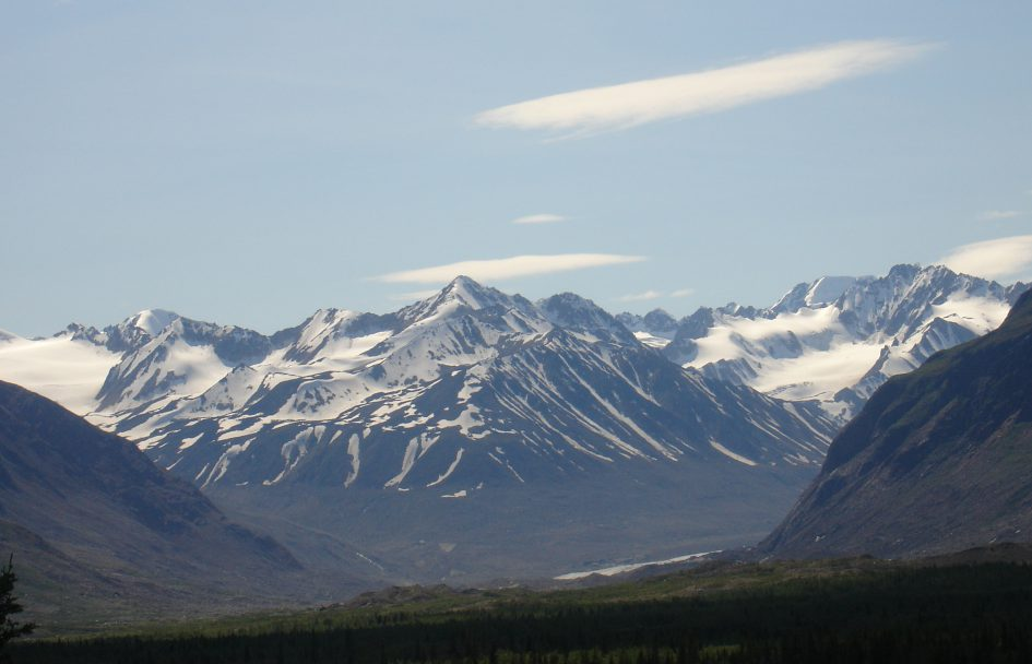 Alaska Range, closeup. Photo by Patricia Monaghan.