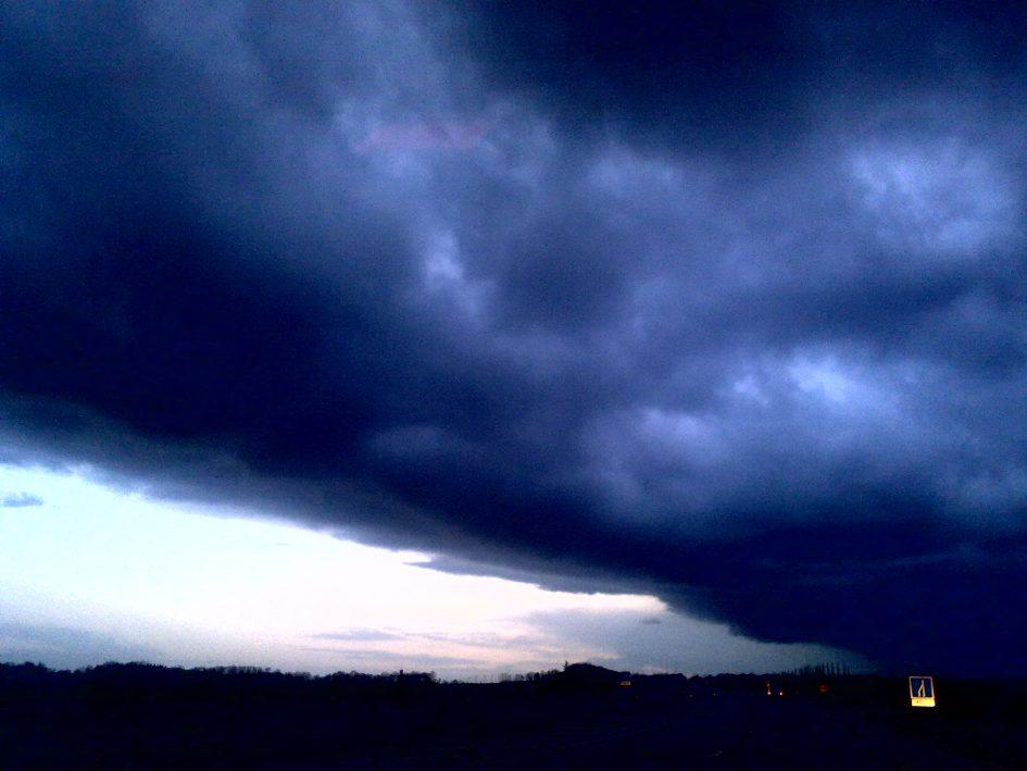 Storm clouds, Normandy. Don Mullan