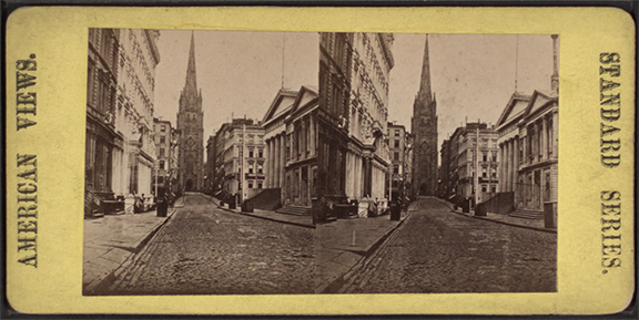 Looking towards Trinity Church, from Robert N Dennis collection of stereoscopic views