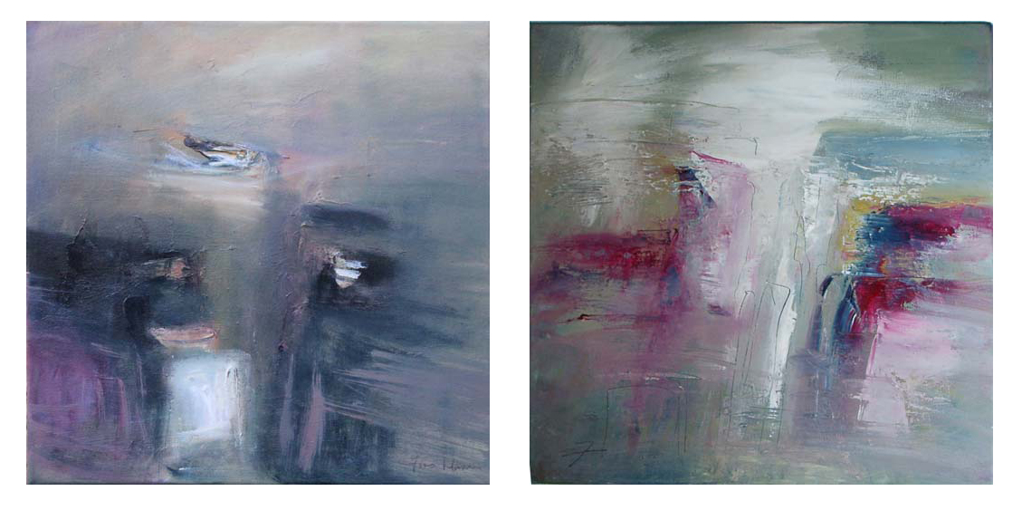 After Full Moon 1 & 2 (50x50, Oil on Canvas)