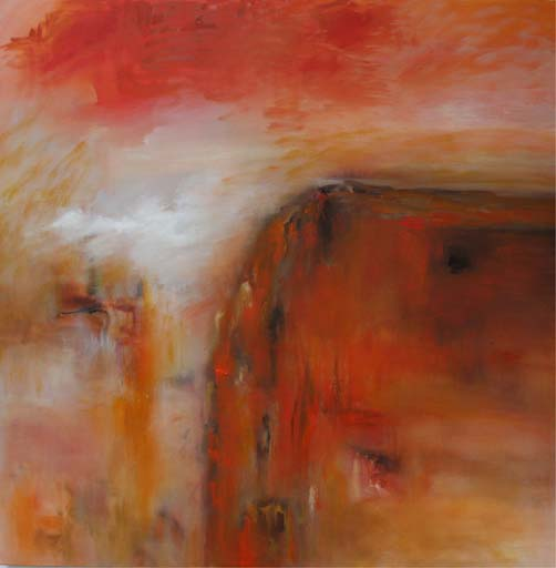 Sunset 2 (99 x 99, Oil on Canvas)