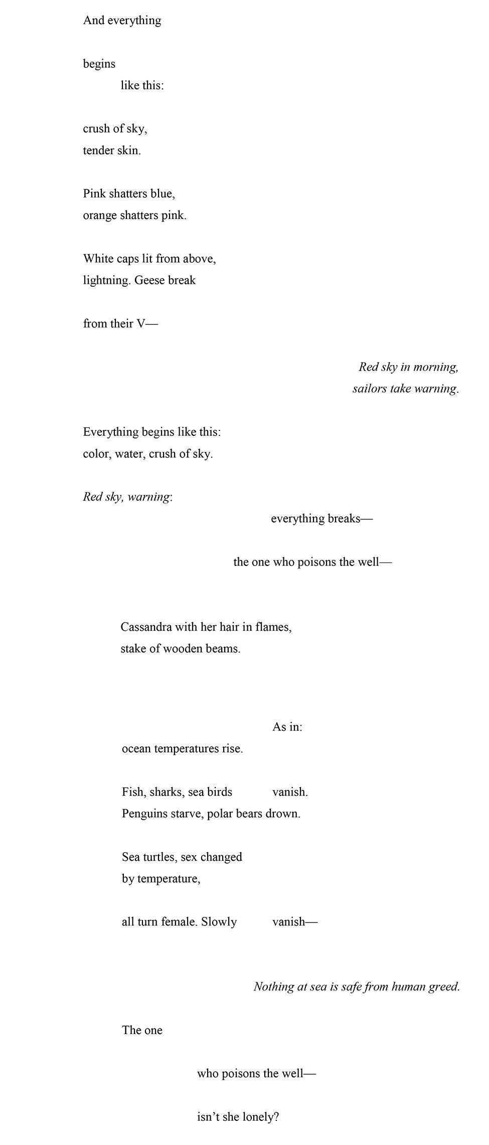 "II.III. Andrea Scarpino ""And everything begins like this"""