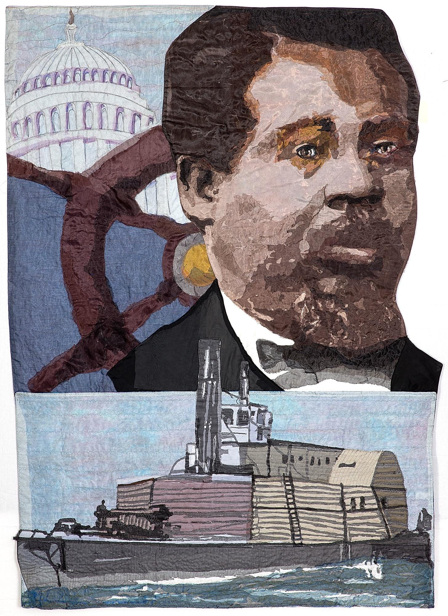 Robert Smalls - Quilt by L'Merchie Frazier