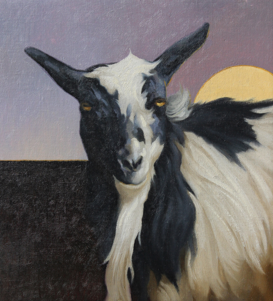 """Lunar Lady"" by Craig Blietz. Oil on Linen on Panel, 12"" x 11"" (2015)"