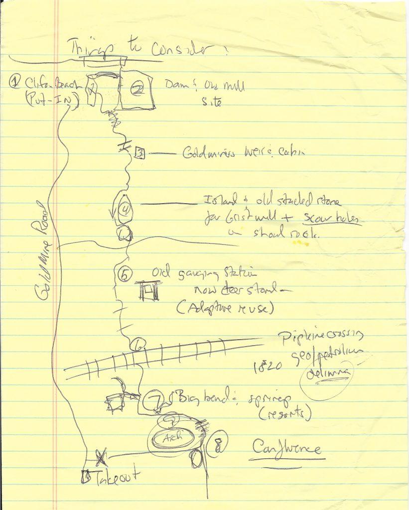 John Lane's map of Pacolet River