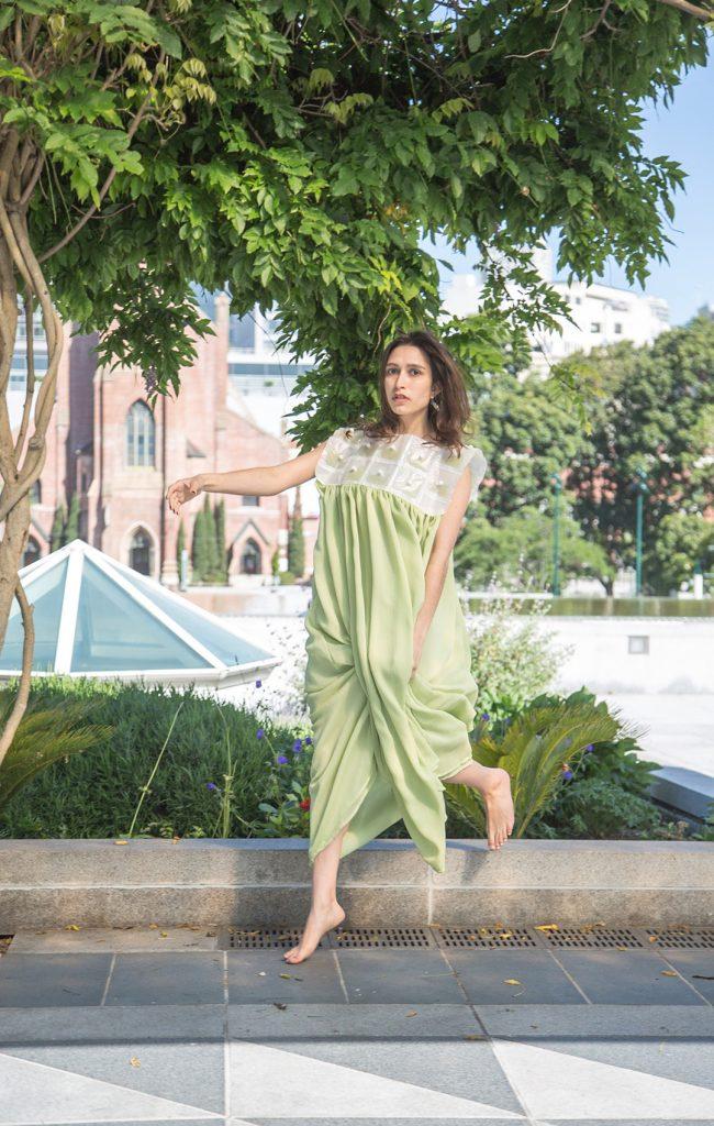 Carbon garden dress by Sihan Zhang