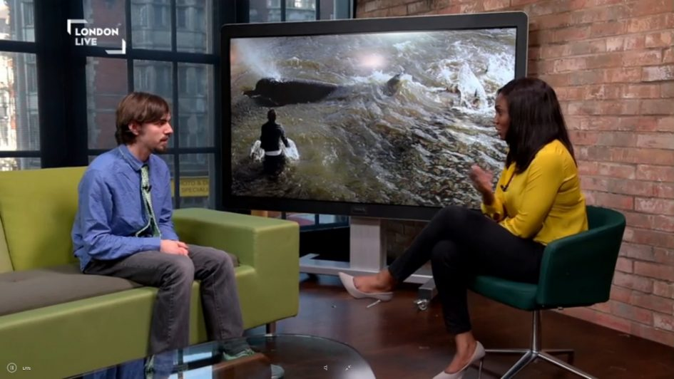 Ten Year Thames Whale Memorial March interview on London Live