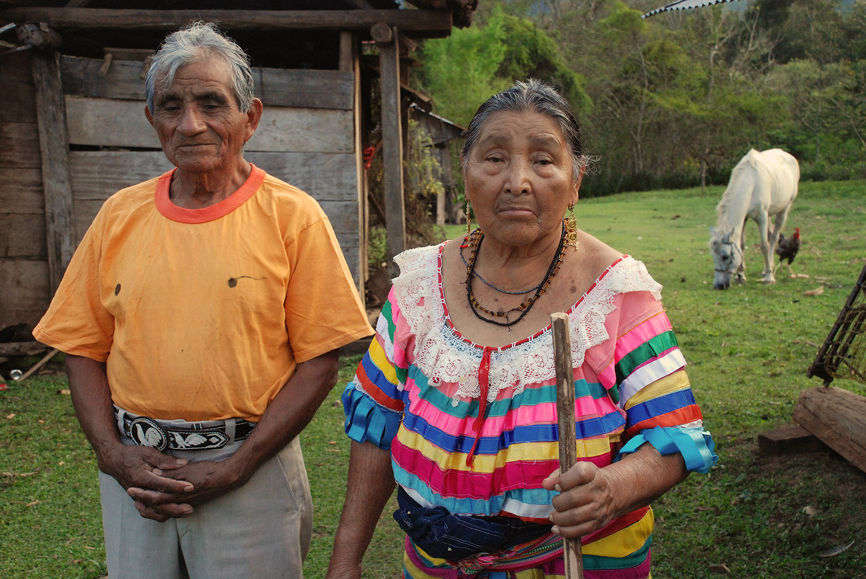 photo of elder man and woman in Chiapas Mexico