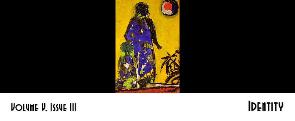 Section header: Identity - yellow painting of a woman