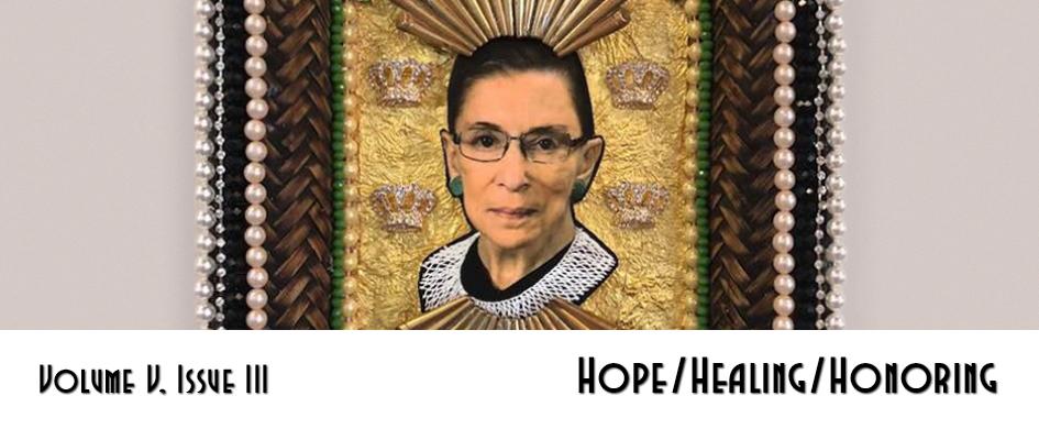 Section header: Hope/Healing/Honoring - Ruth Bader Ginsburg