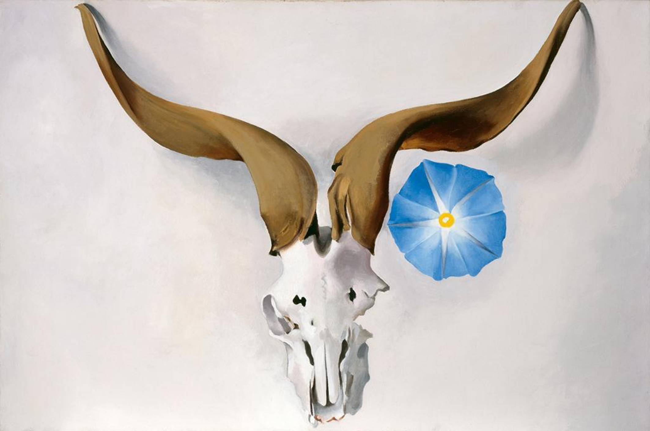 painting of Ram's Head, Blue Morning Glory, 1938