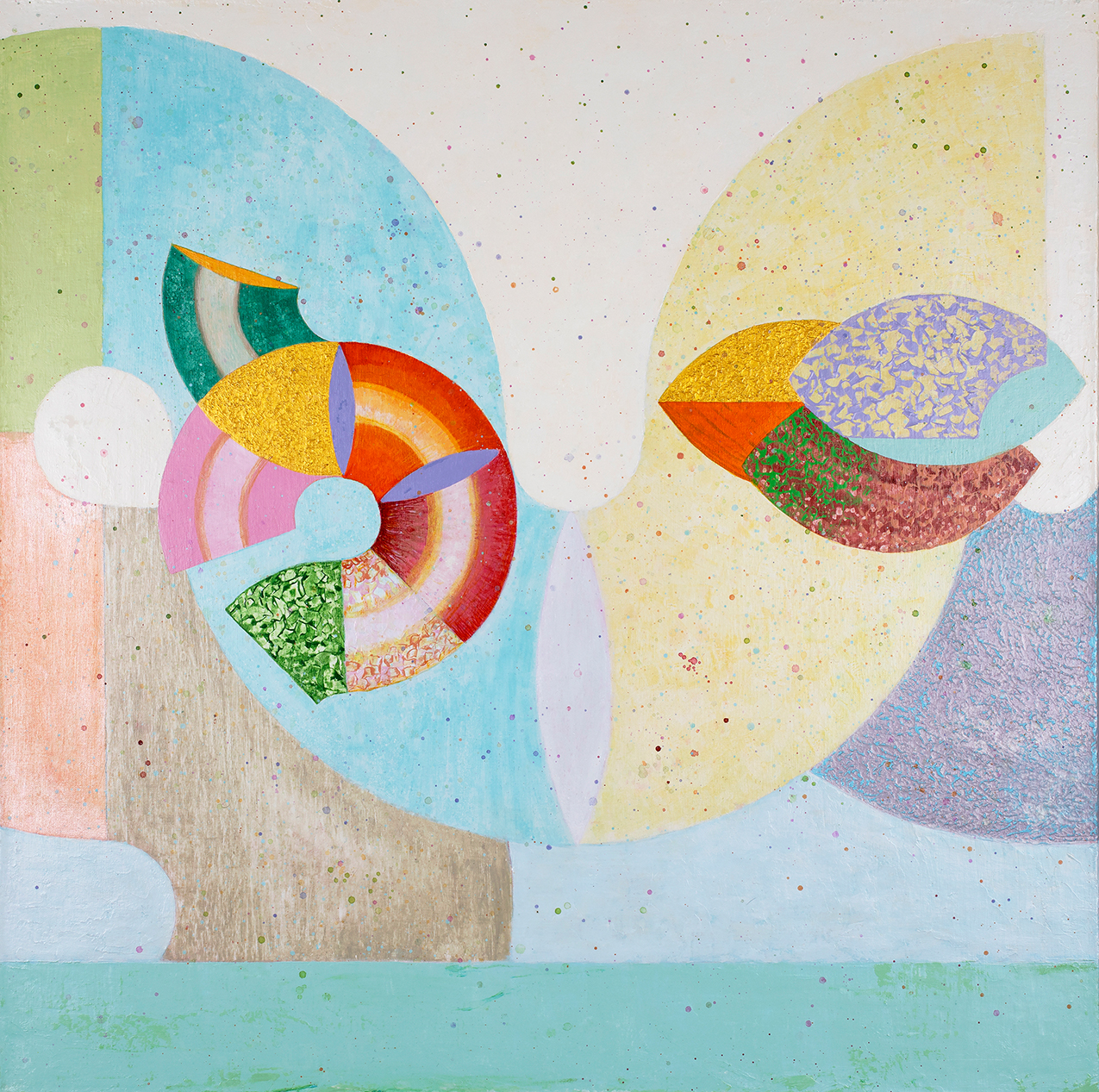 Moonspeaker by Mateo Galvano: colorful geometric painting