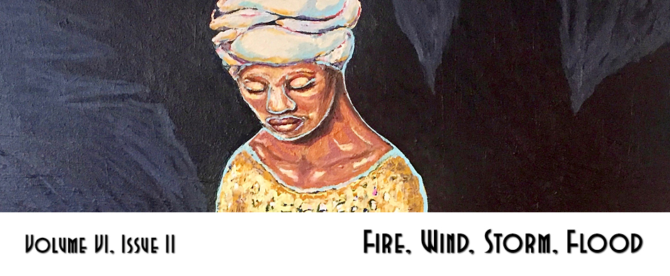 "section header: cropped painting with text ""Fire, Wind, Storm, Flood"""