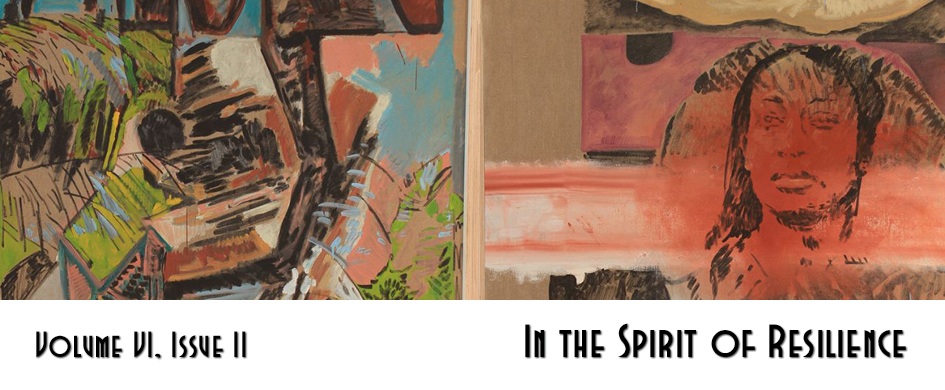 "section header: cropped painting with text ""In the Spirit of Resilience"""