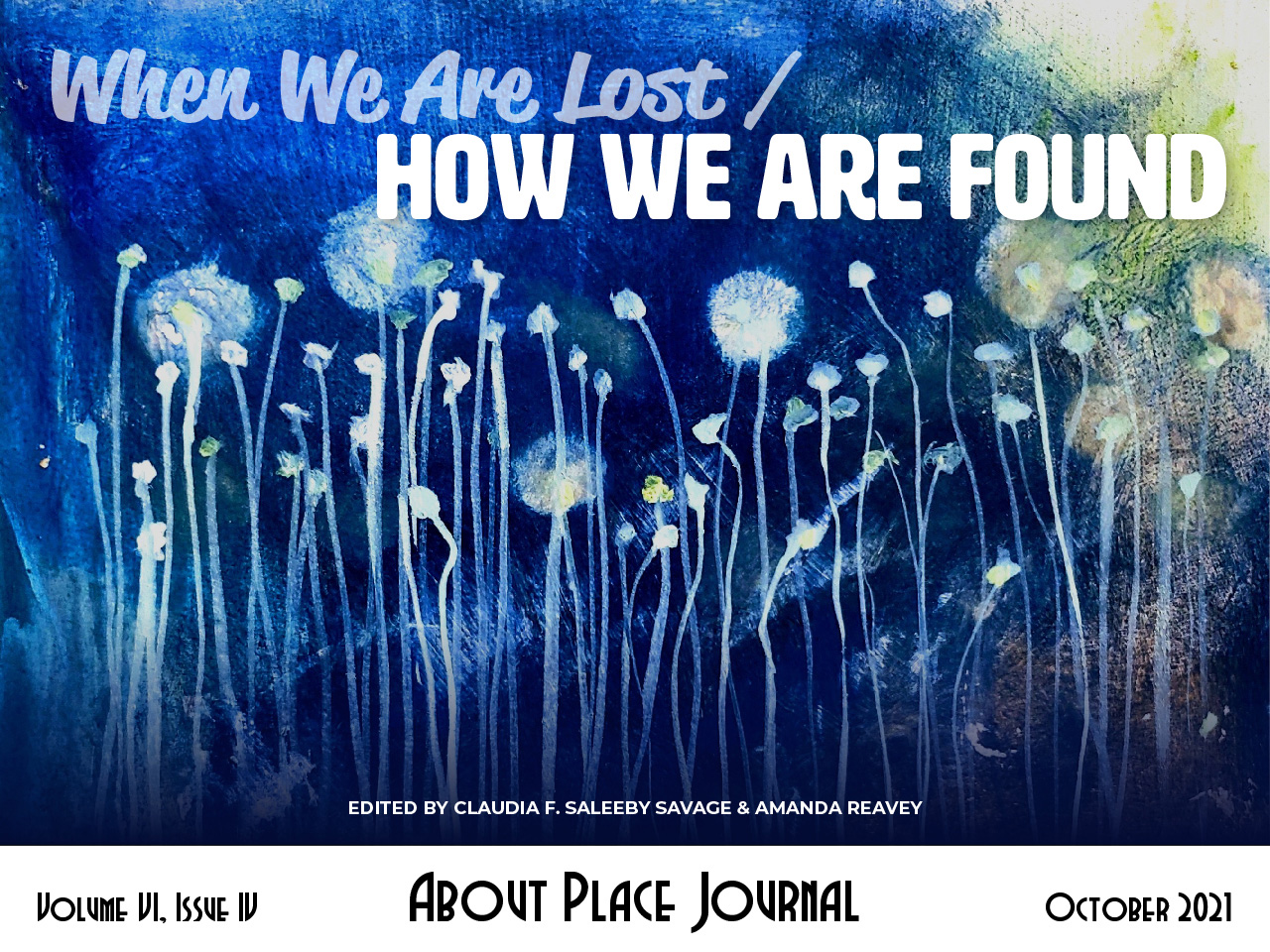 Volume VI Issue IV When We Are Lost / How We Are Found cover